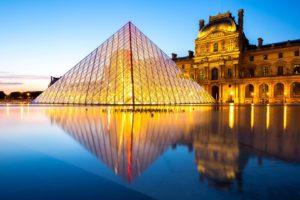 pyramide du louvre : 1er arrondissement de Paris