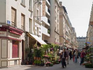 Rue piétonne à Paris